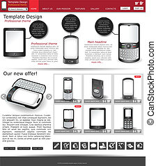 website template 6 - Website template design along with...