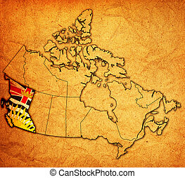 british columbia on map of canada