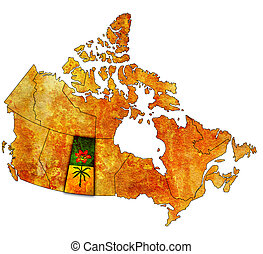 Saskatchewan on map of canada - Saskatchewan on...