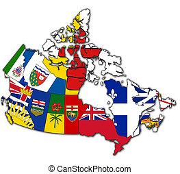 kanada, mapa, administracja