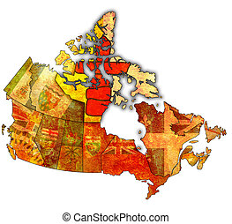 nunavut on map of canada