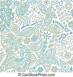 Vector seamless pattern with ethnic ornament