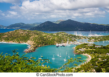 Entrance to Antigua Yacht Club - Yacht basin in Antigua from...