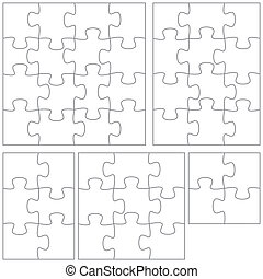 Puzzle template - A selection of jigsaw puzzle templates.