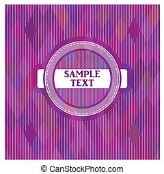 Vector label on a purple background
