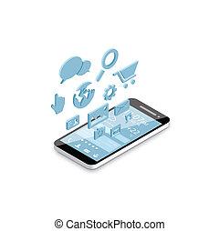 Mobile phone social media developm