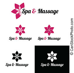 Spa and massage logo template - Spa massage logo template...