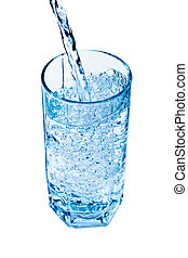 Glass of water - A glass of fresh and clear water