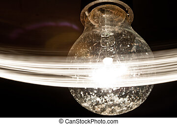 light abstract background - filament incandescent light...