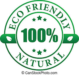 Eco friendly natural label - 100 eco friendly natural...