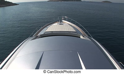 Roof and bow of yacht