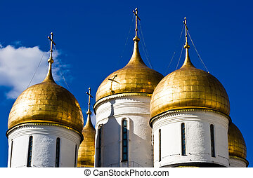 Dormition Cathedral - Domes of the Dormition Cathedral,...