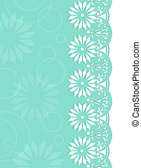 Decorative Border azure - Design book covers or card...