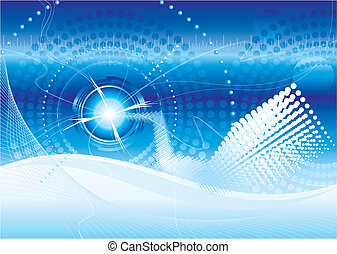 Bluespace - Vector file of futuristic technology blue color...