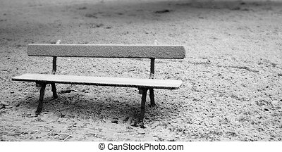 Bench - A solitary bench in a snowy landscape