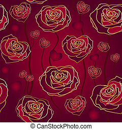 Floral rose background, seamless.
