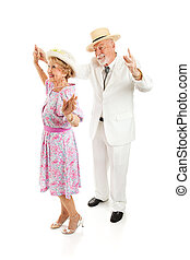 Southern Seniors Dance - Senior couple dressed in Southern...