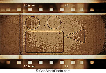 film strip and movie projector
