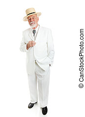 Southern Gentleman Isolated - Traditional Southern senior...