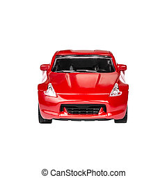 Red Toy Car isolated on a white background