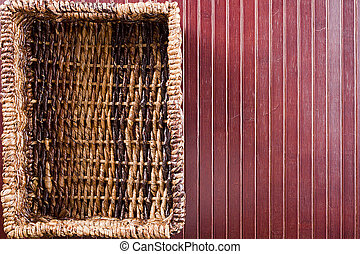 Background with wicker basket - Background with a...