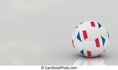 French soccer ball, seamless loop - Very highly detailed...