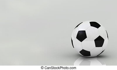 Regular soccer ball, seamless loop