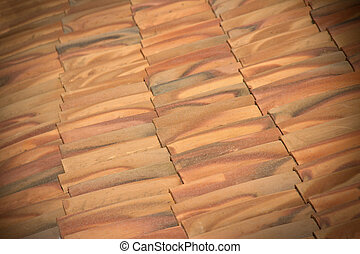 Close-up of tile roof background