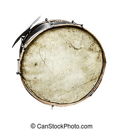 The old, worldly-wise, dusty bass drum - The old,...