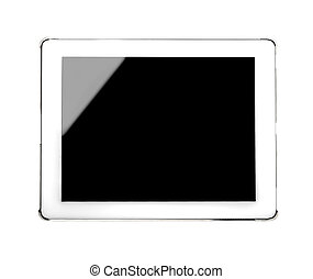 White tablet PC - Isolated white tablet editable with white...