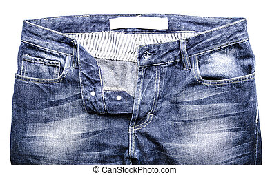 Jeans isolated on white background without shadow