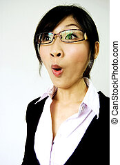 office lady get shocked