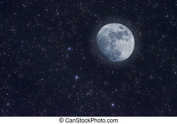 Starry Sky -  Starry Sky and moon