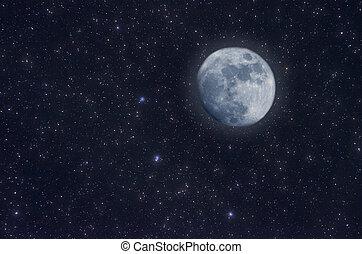 Starry Sky -  Starry Sky and moon