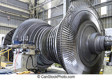 Turbine at workshop