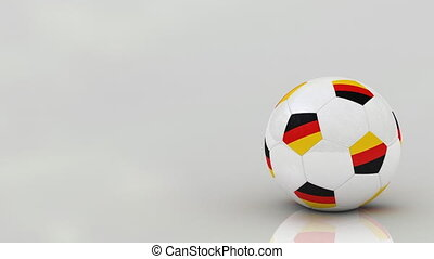German soccer ball, seamless loop