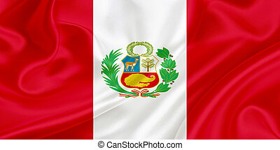 Flag of Peru waving in the wind