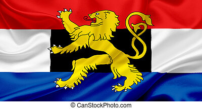 Flag of Benelux waving in the wind