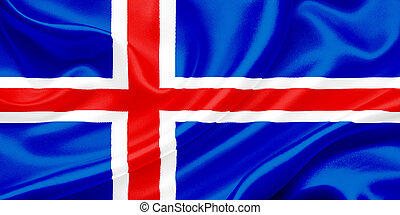 Flag of Iceland - Iceland Flag Waving In The Wind