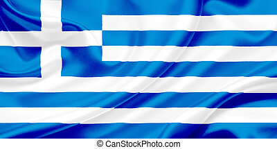 Flag of Greece - Greece Flag Waving In The Wind