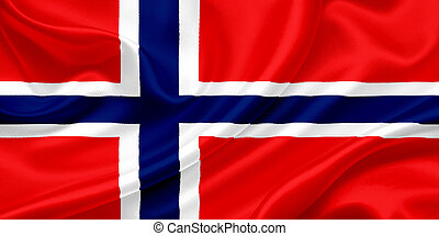 Flag of Norway - Flag of Norway waving in the wind