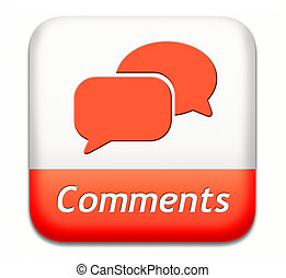 comments button - Comments button sign or icon, feedback on...