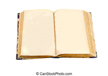 Old Book - The opened book on a white background