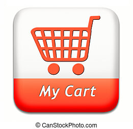 my shopping cart - my cart button placing shopping order at...