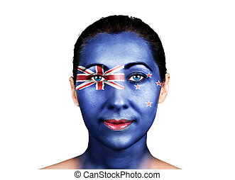 Face with the New Zealand flag