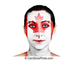 Face with the Canadian flag