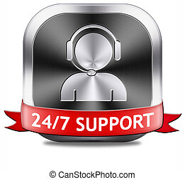 support button - support desk icon or 247 help desk button...
