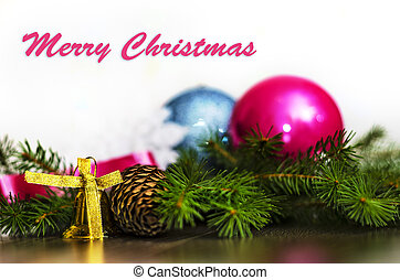 Merry Christmas - Christmas background for congratulations