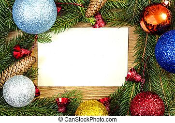 Christmas  frame - Christmas frame for congratulations