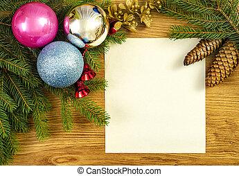 Christmas frame for congratulations